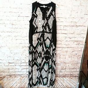 Snake Skin Flowy Lightweight Dress w/ Slit Sides